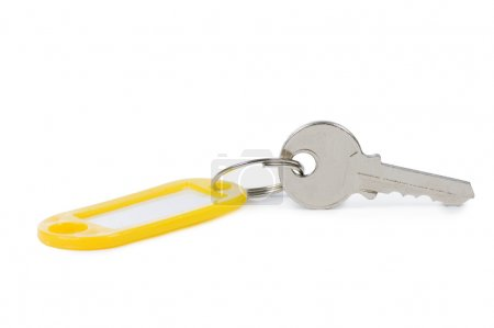 Key with label isolated on white background