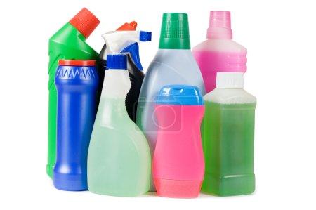 Photo pour Assortiment d'un dispositif de nettoyage isolé - image libre de droit