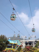 Cable car in amusement park