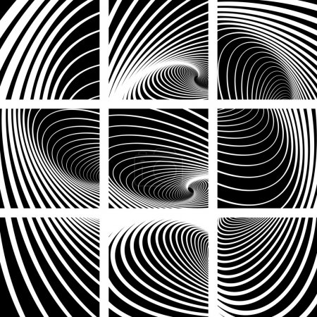 Whirl movement. Abstract backdrops set.