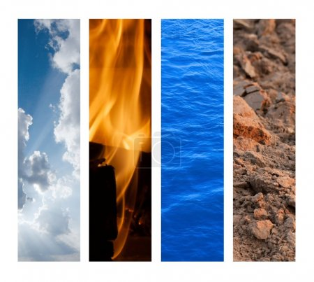 Photo for The Four Elements - Air, Fire, Water, Earth - Royalty Free Image