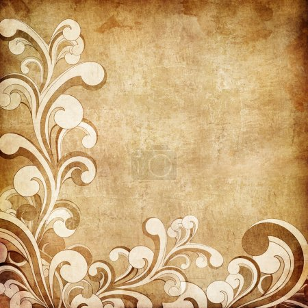 Photo for Old Paper. Retro Swirl Texture Background. - Royalty Free Image