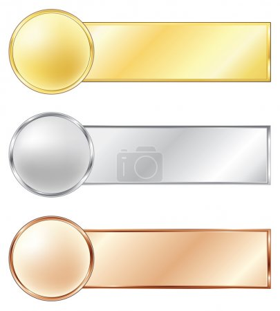 Photo for Sport medals isolated on the white background. Vector. - Royalty Free Image