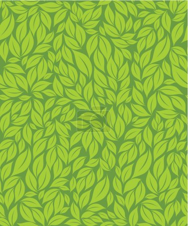 Illustration for Green leaves seamless pattern - Royalty Free Image