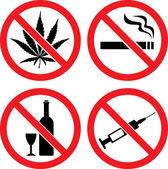 Forbidding Vector Signs
