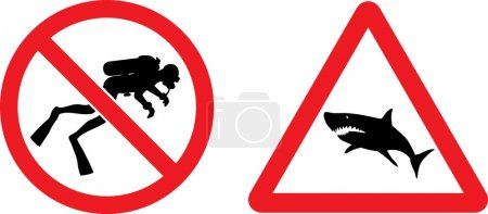Forbidding and Prevention Vector Signs