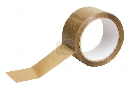 Photo for Adhesive tape on white - Royalty Free Image