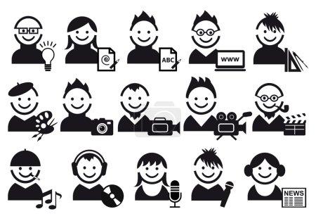 Creative , vector icons