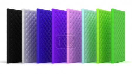 Collection of colored luxury mattresses