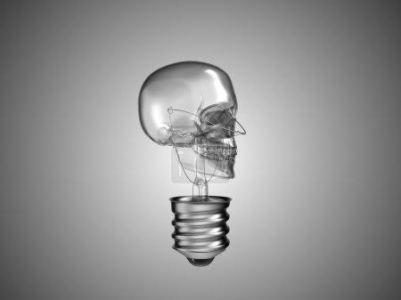 Lightbulb skull - health or death