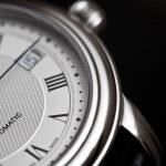 Wrist watch close-up on black background...