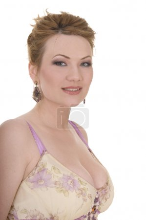 Photo for Portrait of attractive beauty mature woman with nice make-up - Royalty Free Image