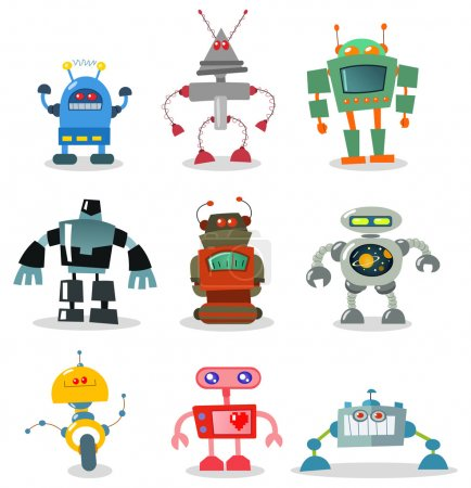 Illustration for Robot set - Royalty Free Image