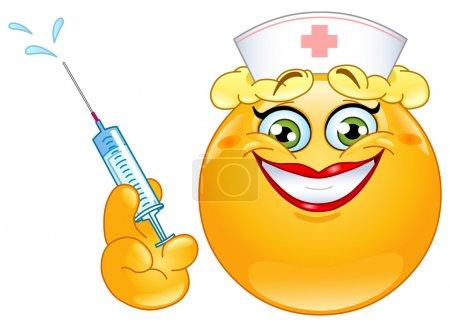 Illustration for Nurse emoticon - Royalty Free Image