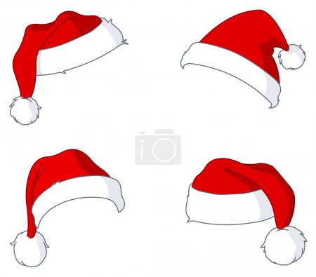 Illustration for Santa hat set - Royalty Free Image