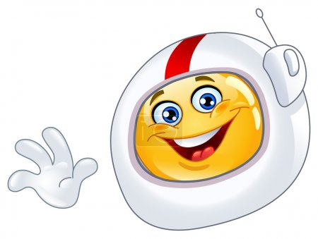 Illustration for Astronaut emoticon - Royalty Free Image