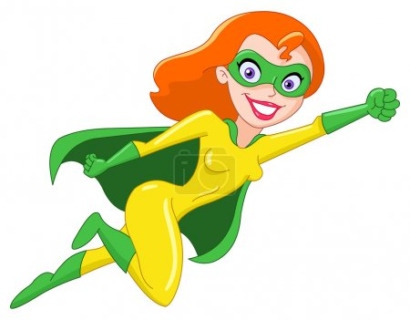 Illustration for Super heroine - Royalty Free Image