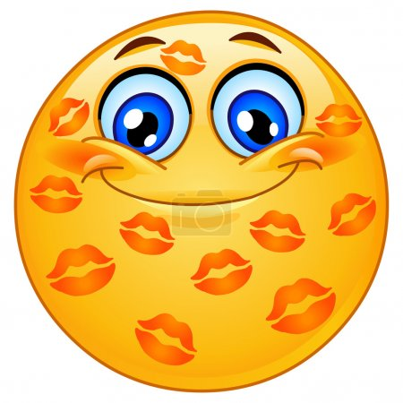 Kissed emoticon