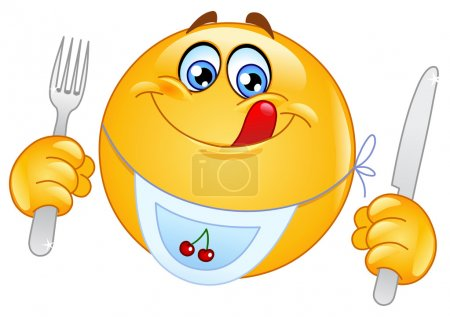 Illustration for Hungry emoticon - Royalty Free Image