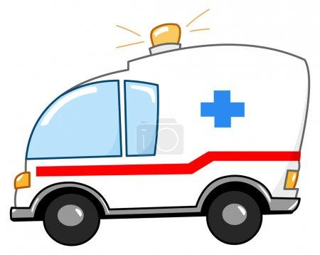 Illustration for Ambulance cartoon - Royalty Free Image