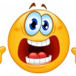 Panic emoticon...