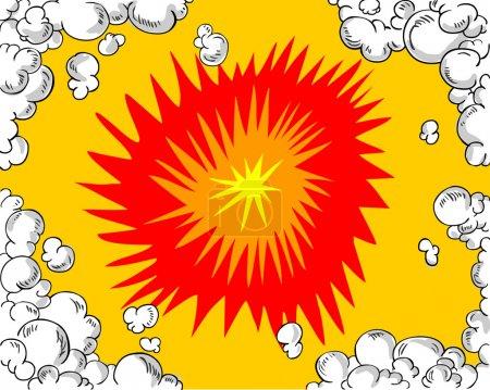 Illustration pour Fond de bande dessinée - image libre de droit
