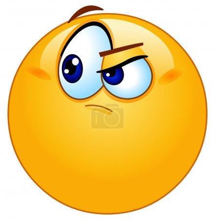 Illustration for Doubtful emoticon - Royalty Free Image