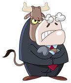 Naštvaný obchodní býk