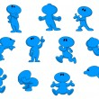 Cartoon character in various poses...