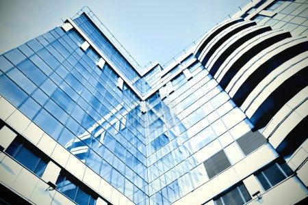 Photo pour Centre d'affaires en verre moderne - image libre de droit
