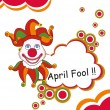 Abstract humorous concept background for fools day...