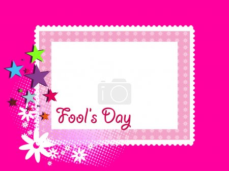 Abstract artwork background for fools day, vector ...