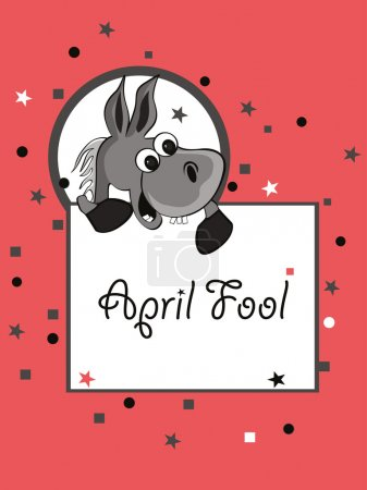 Illustration for Vector illustration for april fools day celebration - Royalty Free Image