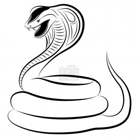 Illustration pour Cobra sous la forme d'un tatouage - image libre de droit