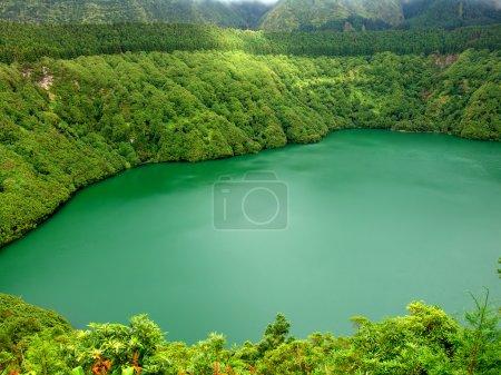 Photo pour Lac de feu à l'île de sao miguel, Açores - image libre de droit