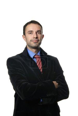 Photo pour Jeunes hommes d'affaires portrait isolé sur blanc - image libre de droit
