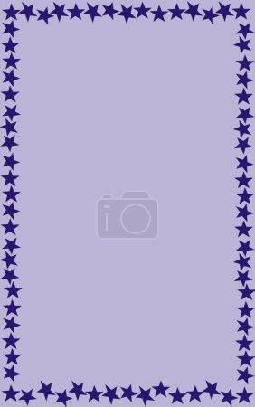 Photo pour Étoiles cadre illustration - image libre de droit