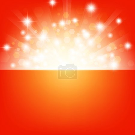 Illustration for Bright background with stars and lights - Royalty Free Image