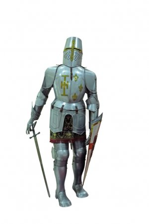 Armor medieval English knight in full growth with ...