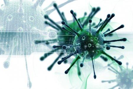 Photo pour Illustration conceptuelle du virus - image libre de droit