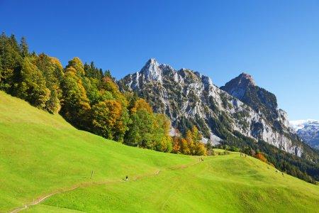Photo pour Automne (été indien) dans les Alpes suisses - image libre de droit
