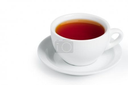 Photo for Cup of black tea. Isolated on white background - Royalty Free Image