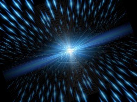 Photo pour Lumière et la vitesse. fond avec vitesse de lumière et le mouvement élément - image libre de droit