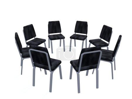 Sessel im Kreis aufgestellt