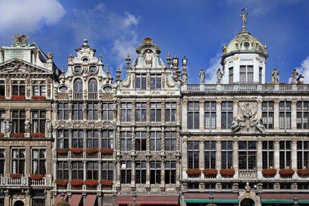 Photo pour Façade de Grand Place. Bruxelles, Belgique . - image libre de droit