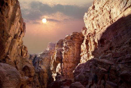 Sun over the canyon