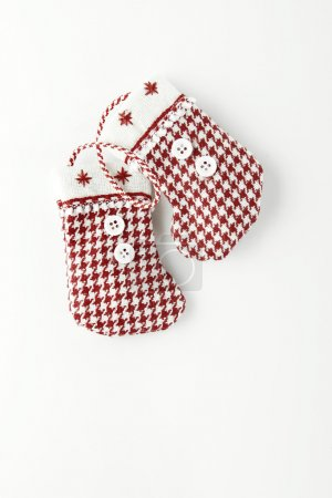 Photo for Christmas stockings on a white background - Royalty Free Image