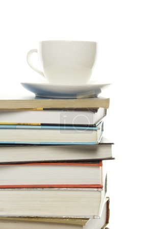Photo for Isolated old books / manuals on them is a white circle - Royalty Free Image