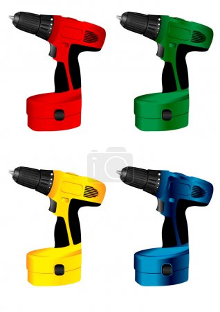 Illustration for The vector image of manual electric tool drill - Royalty Free Image