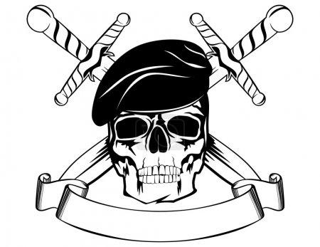 Skull in beret